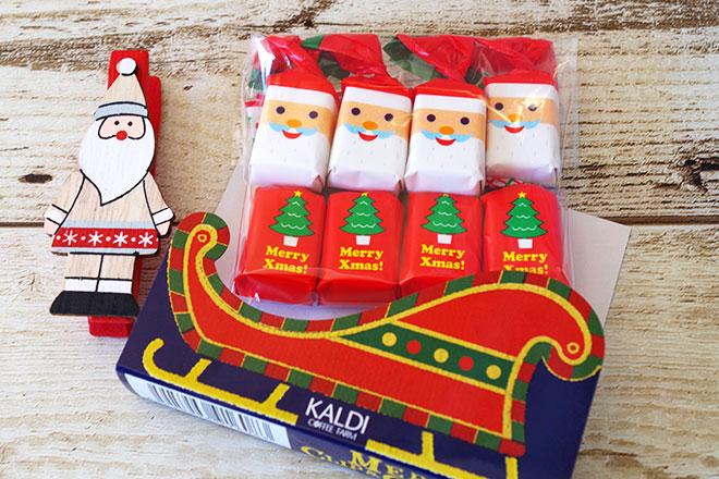 クリスマスクリップ付きチョコレート